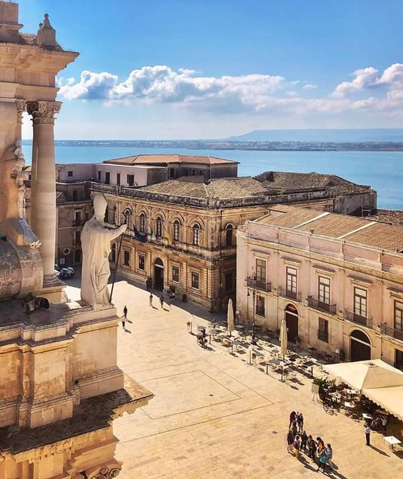 view of Siracusa in sicily