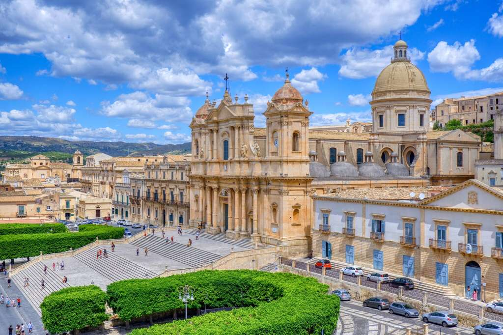 View of Noto in Sicily