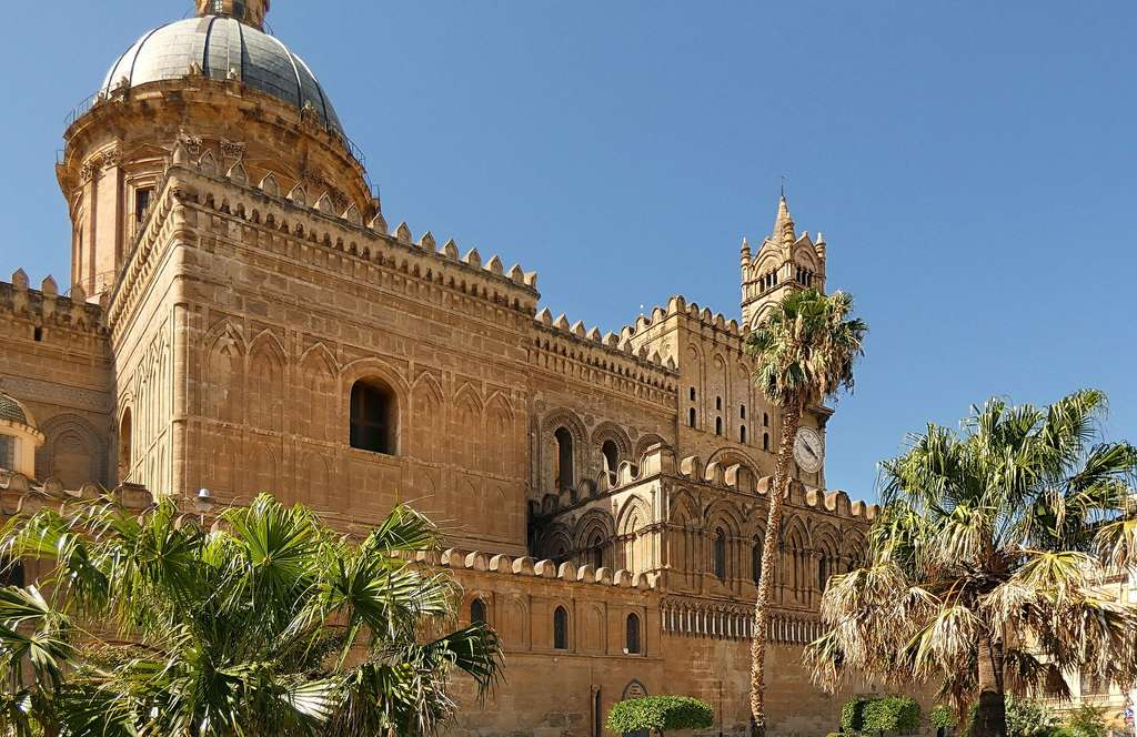 palermo sicily view of the cathedral