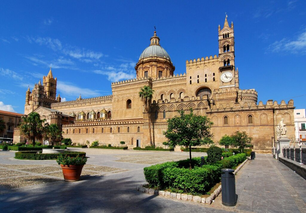 View of the Palermo cathedral from outside
