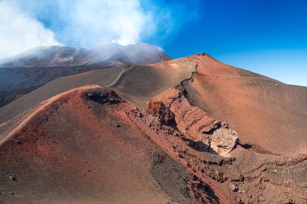 View of Etna from Helicopter
