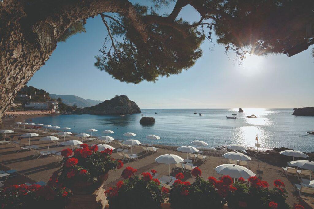 St Andrea hotel beach Taormina