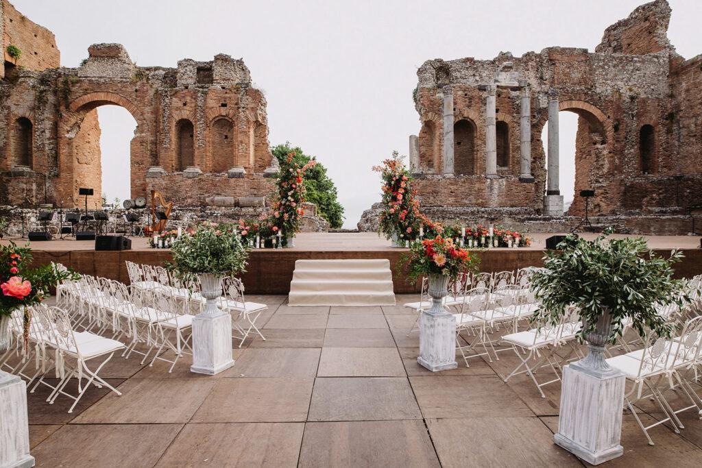 Luxury Wedding SettingTaormina